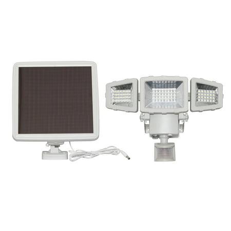 Westinghouse 2000 Lumen Triple Head Solar Security Light, Wireless Motion Activated Kit (White Finish)