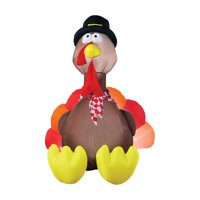 Northlight 4 ft. Inflatable Thanksgiving Turkey Outdoor Decoration