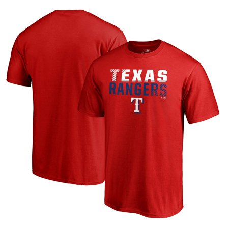 Texas Rangers Fanatics Branded Fade Out T-Shirt - Red - Ranger De Texas