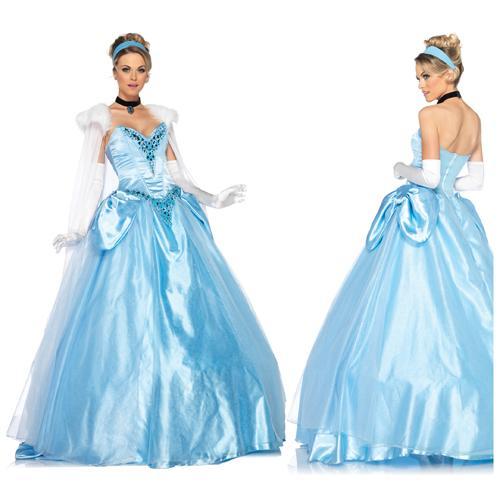 Disney Princess Dlx Cinderella Ball Gown Costume sz Small 2-6