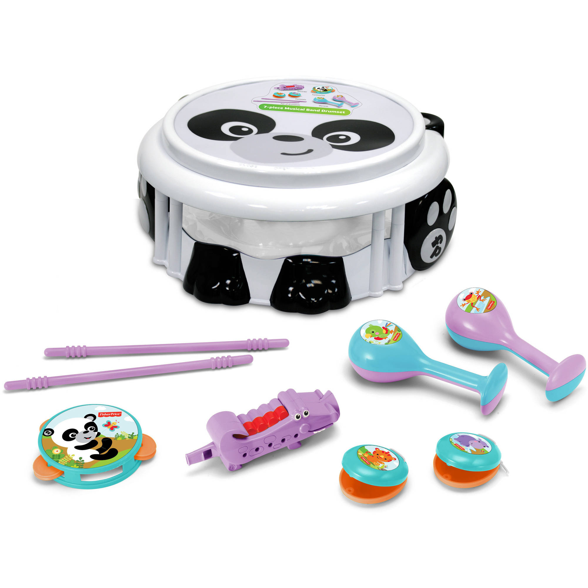 Fisher Price Panda Musical Band Drumset