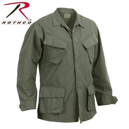 Rothco Vintage Vietnam Fatigue Shirt Rip-Stop Olive Drab,4XL