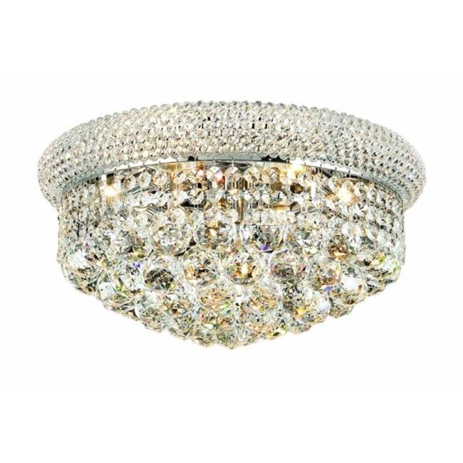 PWG Lighting - Lighting By Pecaso 1530F16C-EC Adele Heirloom Grandcut Crystal Flush Mount, Chrome