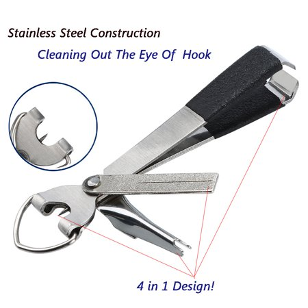 1 Pcs 4 In 1 Quick Knot Cutter Nippers Snip Tying Tool Nail Clippers Line (The Snip Line Cutter)