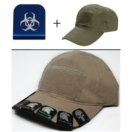 Malware Toxic Hazard Symbol Cap Crown Rim Brim It Blue   Olive Drab Green Hat
