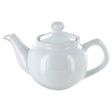 EnglishTeaStore Brand 2 Cup Teapot - Gloss Finish (White) By Online Stores, Inc. Ship from US