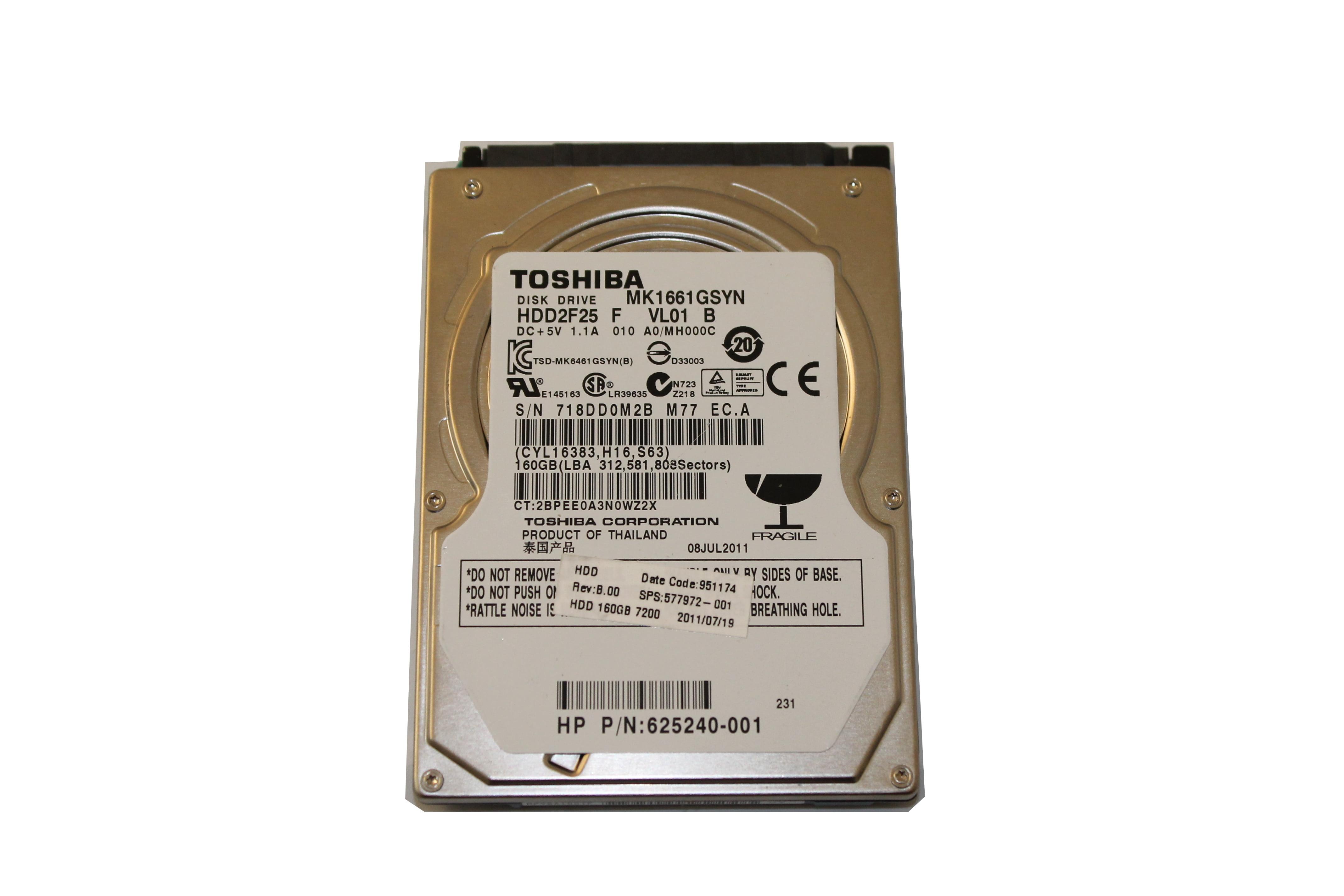 Toshiba MK1661GSYN 160 GB Internal Hard Drive MK1661GSYN