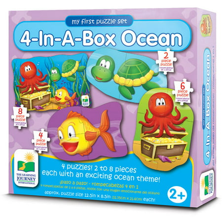 The Learning Journey My First Puzzle Set, 4-in-a-Box, Ocean - Halloween Puzzles For 1st Grade