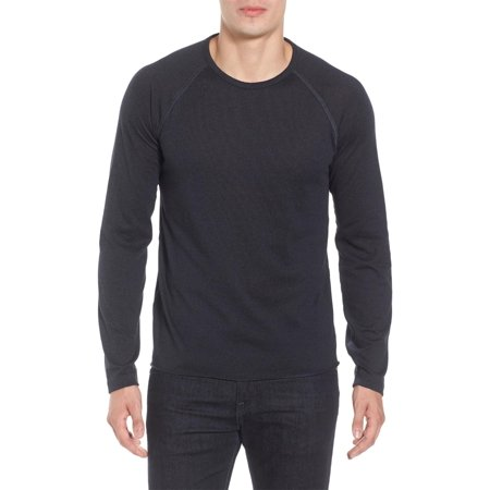 (Billy Reid Long Raglan Sleeve Crewneck T-Shirt X-Large Indigo)