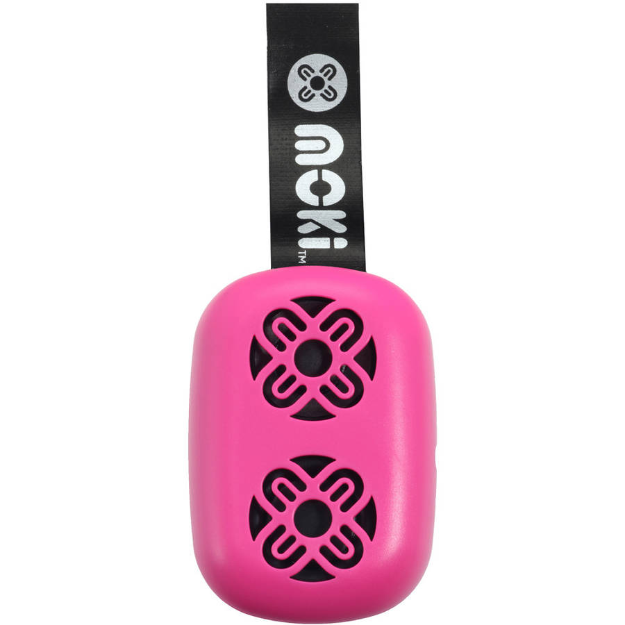 Moki BassPop ACC BPOPPK Ultracompact Bluetooth Wireless Pocket Speaker, Fluro Pink