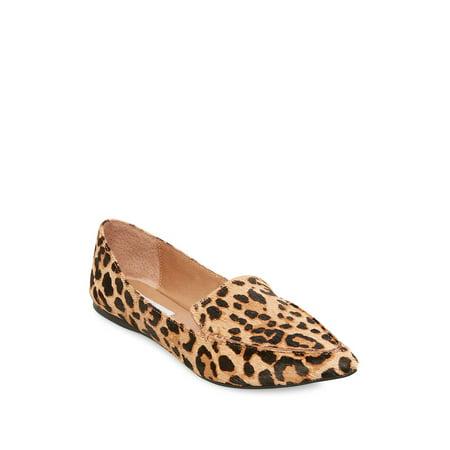 9ab46e56844e Feather Leopard Print Calf Hair Loafers - Walmart.com