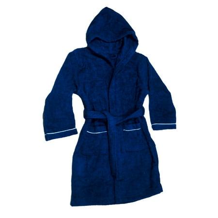 Boys Terry Cloth Hooded Bathrobe 100% Cotton Terry Coverup - Mens Hooded Bathrobe