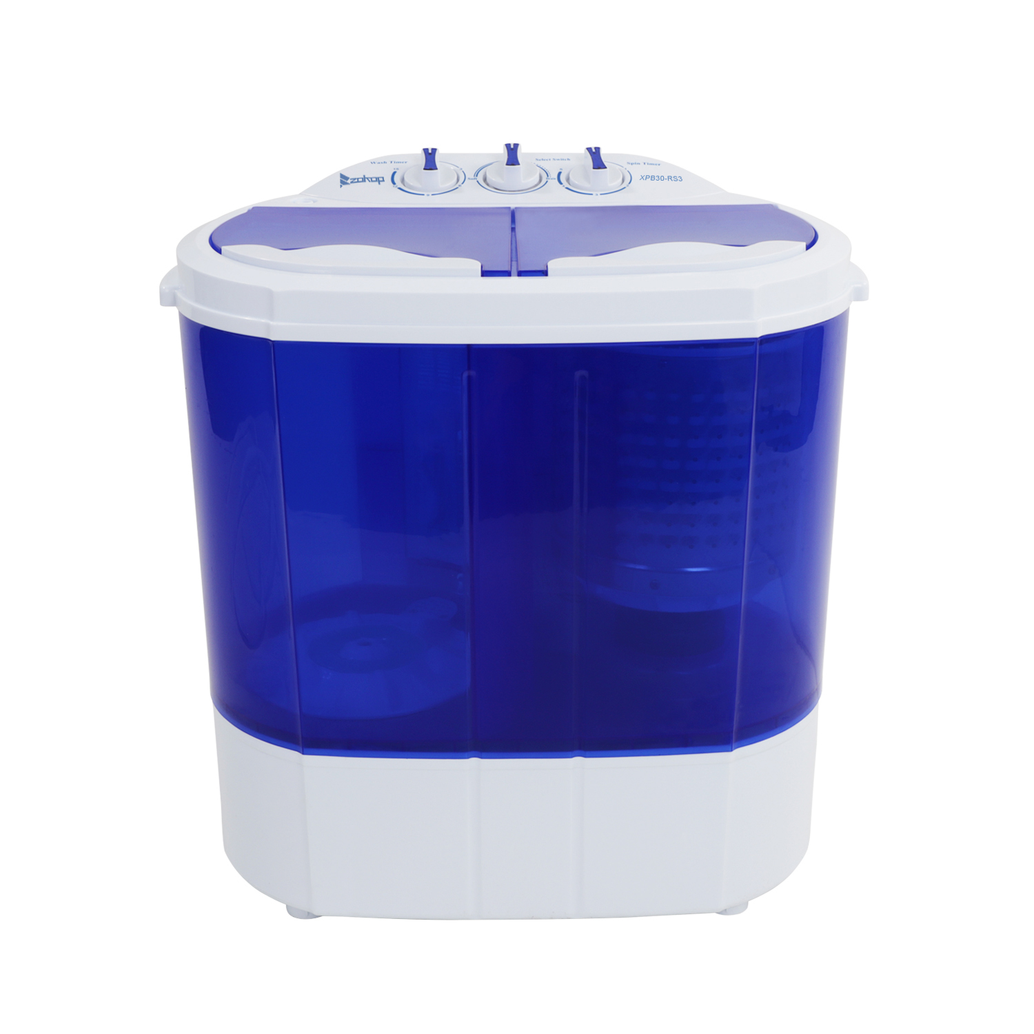 ZOKOP XPB30-RS3 10.4Lbs Semi-automatic Twin Tube Washing Machine US Standard White /& Blue,help you to wash dirty clothes quickly