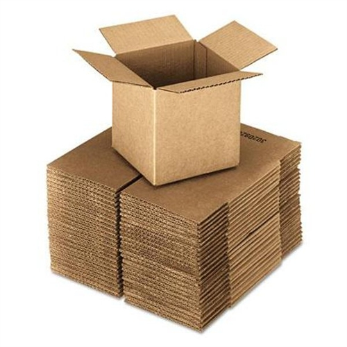 Universal Office Products Brown Corrugated - Cubed Fixed-Depth Shipping Boxes, 4l x 4w x 4h, 25/Bundle 684184