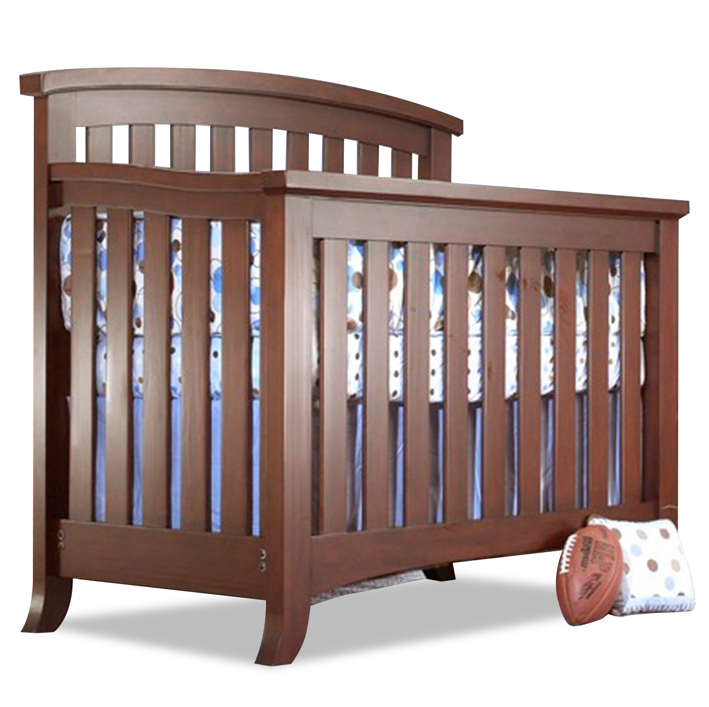 Sorelle Alex 4-in-1 Convertible Crib Mocha Cafe