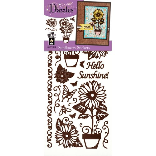 Dazzles Sunflower Stickers (Set of 4)