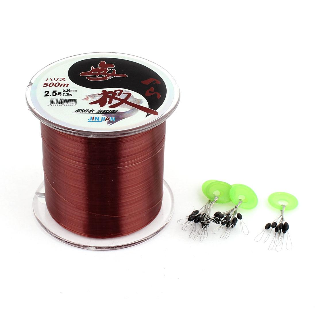 Unique Bargains 547Yds 500M 0.26mm 20 lbs Nylon Spool Fishing Line by