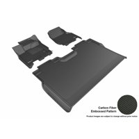 3D MAXpider 2015-2017 Ford F-150 SuperCrew Front & Second Row Set All Weather Floor Liners in Black with Carbon Fiber Look
