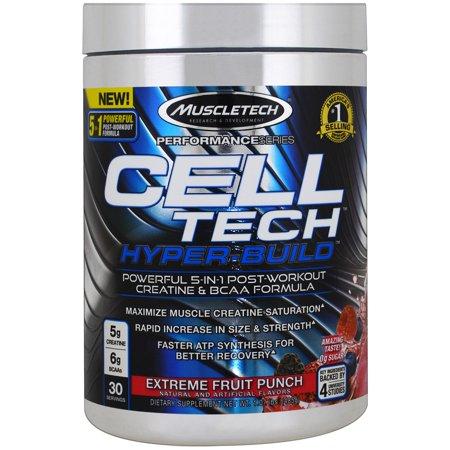 MuscleTech Creatine Cell Tech Hyper-Build Powder, Fruit Punch, 30 Servings ()