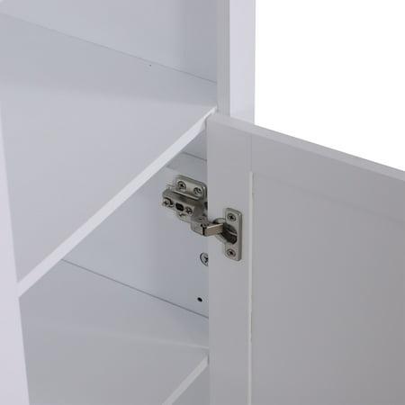 67 wood free standing bathroom linen tower storage - Free standing linen cabinets for bathroom ...