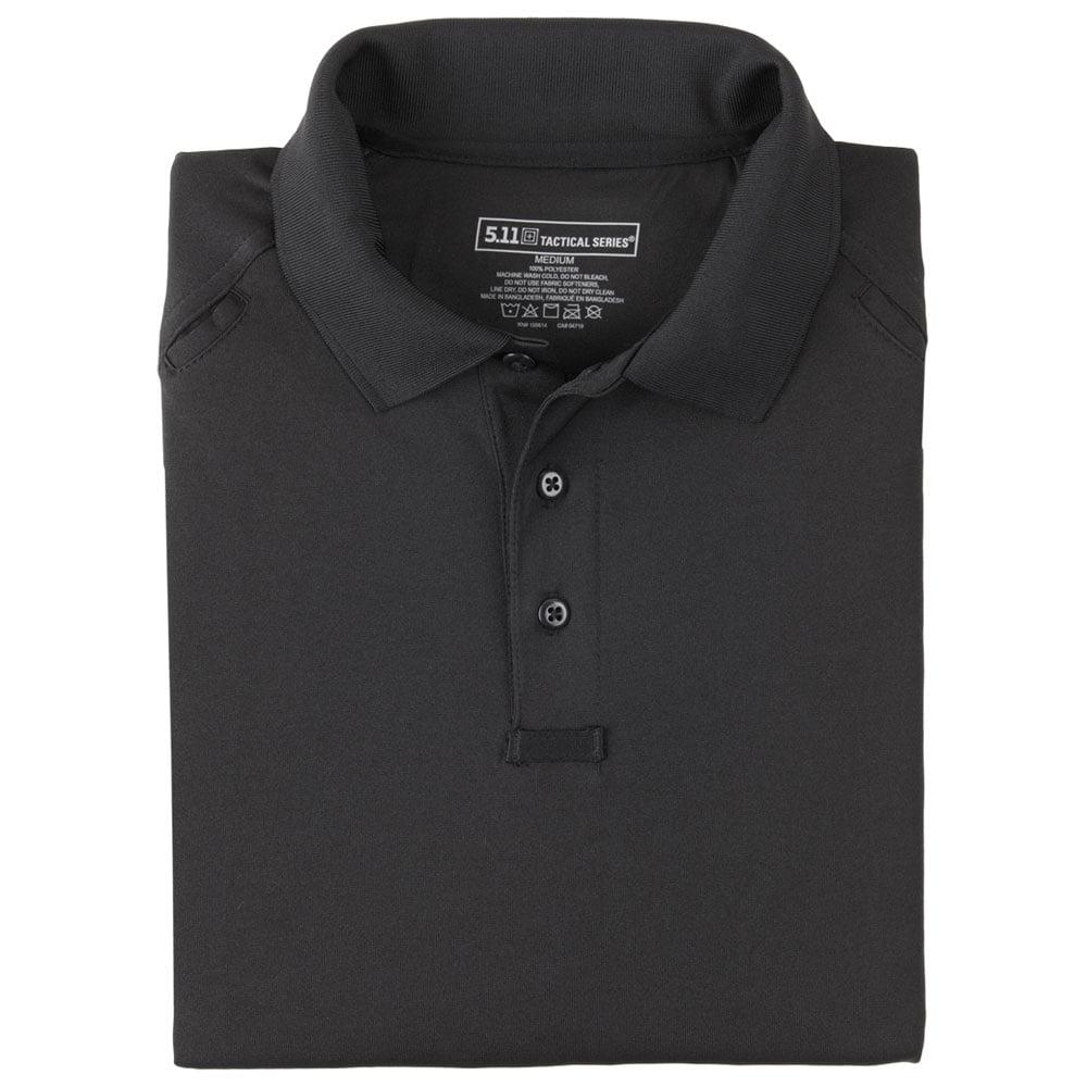Performance Long Sleeve Polo Shirt Black Walmart