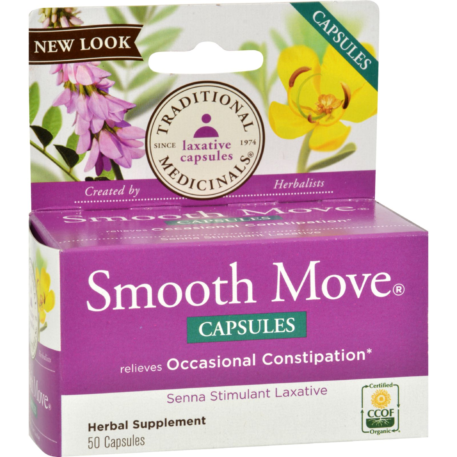 Traditional Medicinals Smooth Move Laxative Capsules, 50 Ct