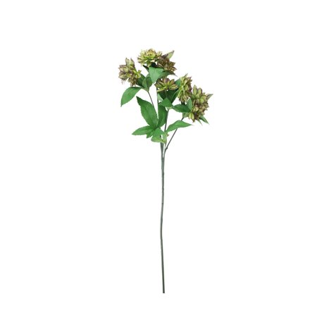 "27"" Plum Purple and Green Mini Dahlia Artificial Stemmed Flower Spray"