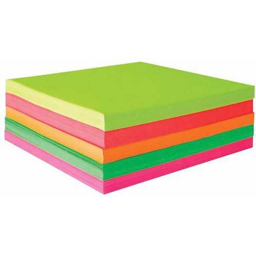 "Sax Origami Paper, 6.75"" x 6.75"", Assorted Fluorescent Colors, Pack of 500"