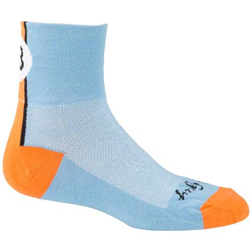 SockGuy Classic Lucky 13 Sock: Blue SM/MD