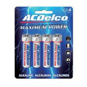 AC Delco Maximum Power ALKALINE Blister Card AA 4-pack AC210