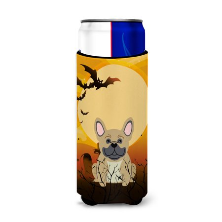 Halloween French Bulldog Cream Michelob Ultra Hugger for slim cans - Anti Halloween France