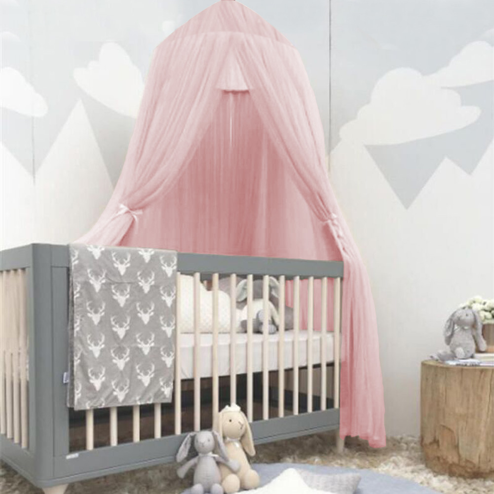 Hilitand Baby Kids Round Dome Bed Canopy Mosquito Netting Curtain Cover Home Bedroom Decoration, Kid Bed Canopy , Bed Netting