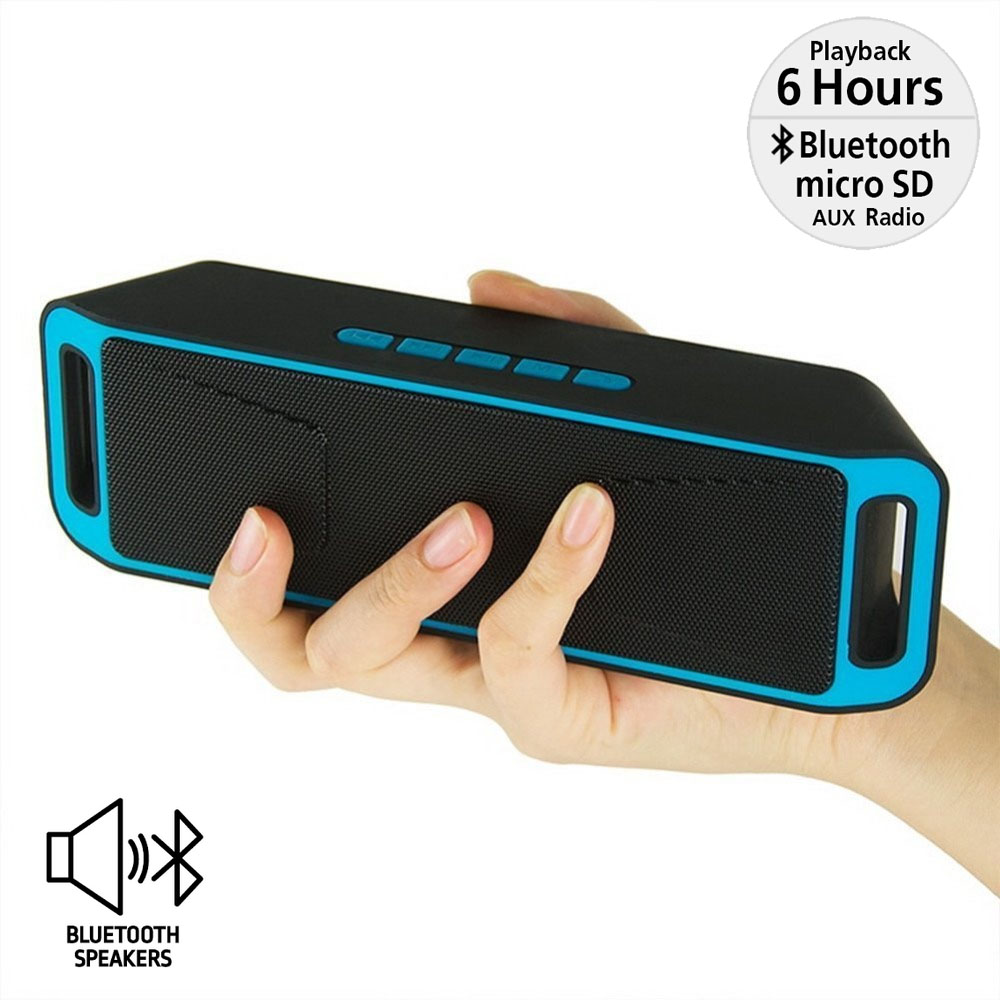 Indigi® Portable Bluetooth Speaker Wireless Super Bass Full range Sound HiFi Great Gift