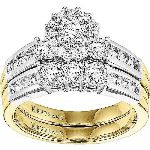 Keepsake One Love 1 Carat T.W. Diamond 14kt Yellow Gold Bridal Set