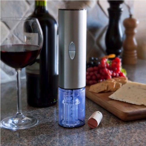 Xit Home Automatic Battery Powered Electric One Hand Touch Wine Opener w/ LEDs