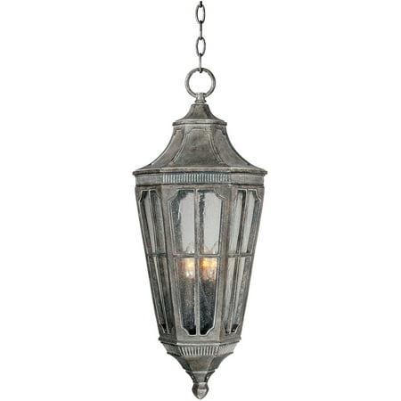 Outdoor Pendant 3 Light Bulb Fixture With Sienna Finish Viex Material Candelabra Bulbs 13 inch 120 Watts