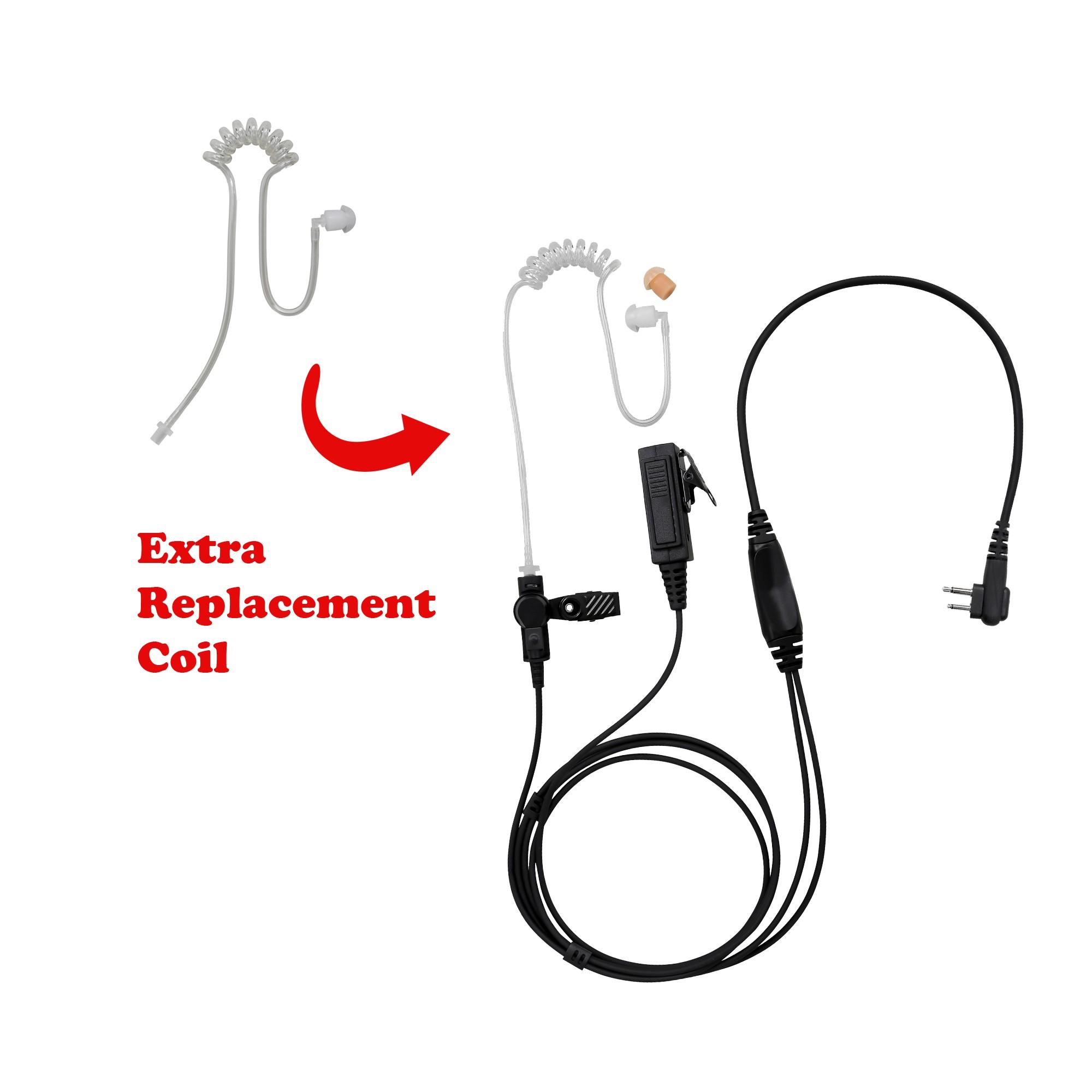 BOMMEOW BCT22-M1 2-Wire Clear Coil Surveillance Kit