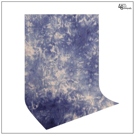 10'x12' Crushed Blue Hand Painted Backdrop Premium Cotton Muslin Seamless Photography Background by Loadstone Studio WMLS1129 (Halloween Muslin Backdrops)