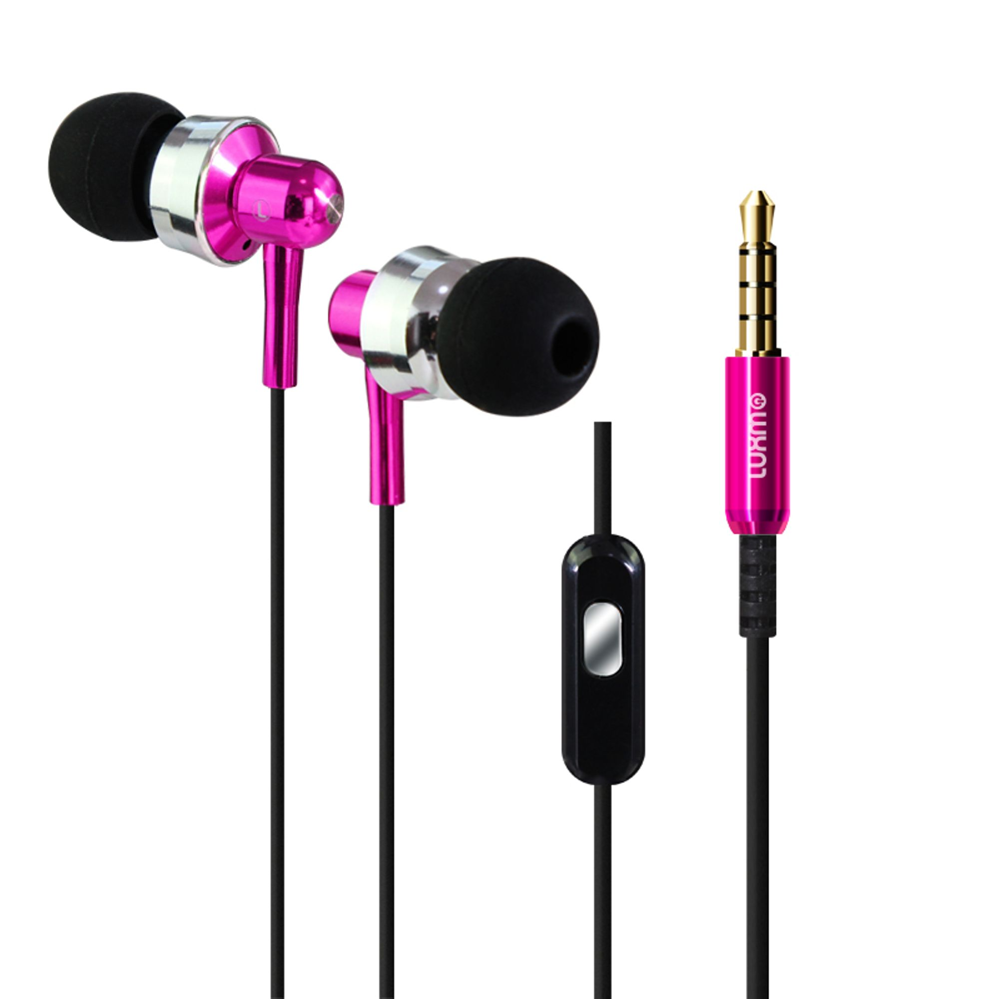3.5mm Headphones 3.5mm Headset, by Insten Alloy Metal Stereo In-Ear Earbuds Earphone with Microphone Mic Handsfree (Crystal Clear Noise Cancelling) for Apple iPhone Samsung Galaxy Cell phone Universal
