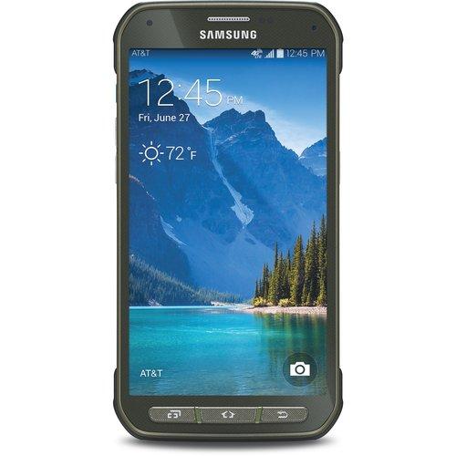 AT Samsung Galaxy S 5 Active Smartphone, Camo Green