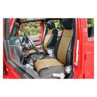 Rugged Ridge For 11-18 Jeep Wrangler Unlimited JKU 4 door Seat Cover Kit Black/Tan 13297.04