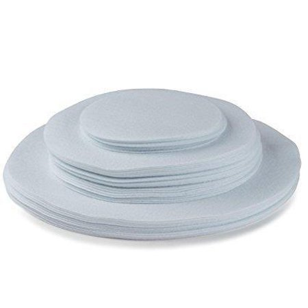 Felt Plate China Storage Dividers Protectors White Extra Large Thick and Premium Soft Set Of 48 24-10.5
