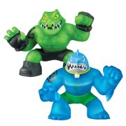 Heroes of Goo Jit Zu Super Stretchy 2-Pack Action Figures, Thrash vs Rockjaw