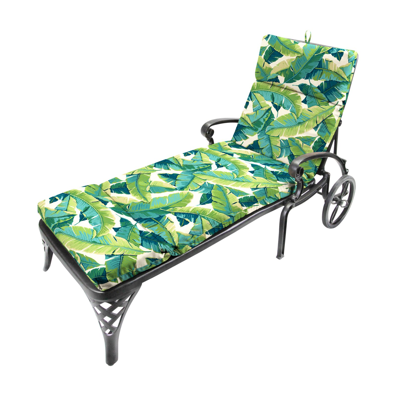 Jordan Manufacturing French Edge Outdoor Chaise Lounge Cushion - Balmoral Opal
