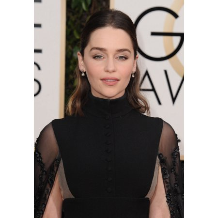 Emilia Clarke At Arrivals For 73Rd Annual Golden Globe Awards 2016   Arrivals 2 Rolled Canvas Art     8 X 10