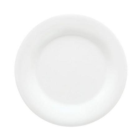 Diamond White 5.5 inch Wide Rim Plate Melamine/Case of 48