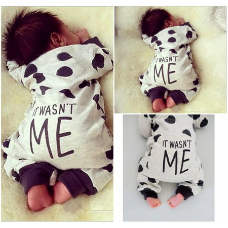 - 2016 Newborn Toddler Infant Baby Boy Girl Dot Romper Jumpsuit Bodysuit Clothes Outfits
