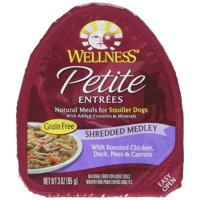 Wellness 3 oz Grain Free Natural Wet Small Breed Roasted Chicken & Duck Dog Food (24 Pack), One Size
