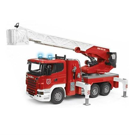 Bruder Scania R-Serie Fire Engine with Water Pump and L and S (Bruder Fire Truck With Water Pump Instructions)