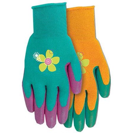 Midwest Quality Gloves 67F6-M Grip Mate Garden Gloves, Nitrile Dipped Palm, Women's Medium, ()